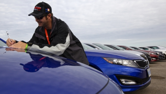 Journauto records his test drive scores at Test Fest