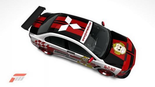FM3 fantasy livery for Mitsubishi Evo 10
