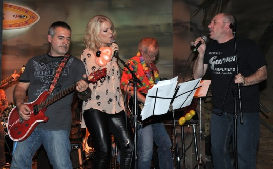 The Troubadours rockin' out at this year's AJAC party at Margaritaville in Niagara Falls on Tuesday, October 21st