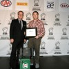 Shaun Keenan: Winner: Wakefield Castrol Award for Automotive Writing (Vehicle Testing), presented by Ian Hutchison, Marketing Manager Wakefield Canada Inc.